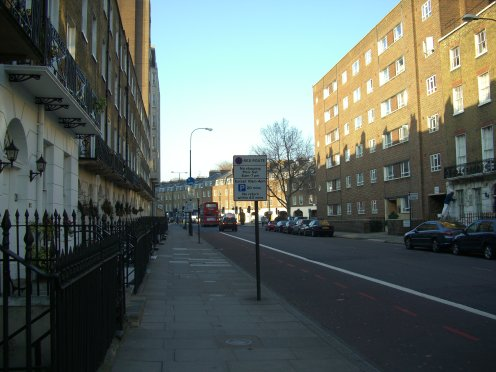 Looking north up Gloucester Place towards 191