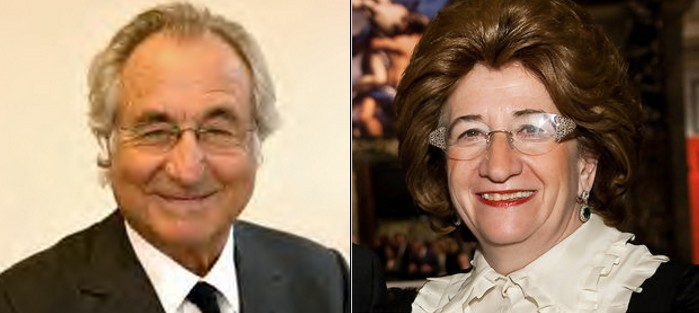 Bernie Madoff (left) and Sonja Kohn (right)