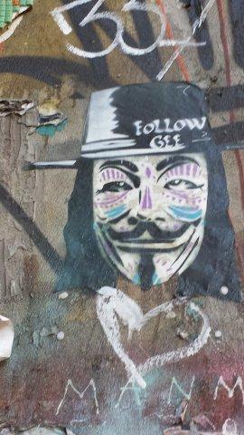 Graffiti along Commercial Street