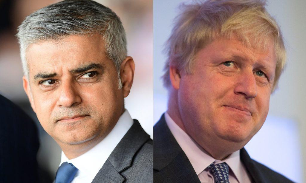 Sadiq Kahn & Boris Johnson